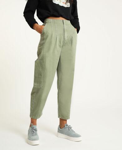 Pantalone slouchy kaki