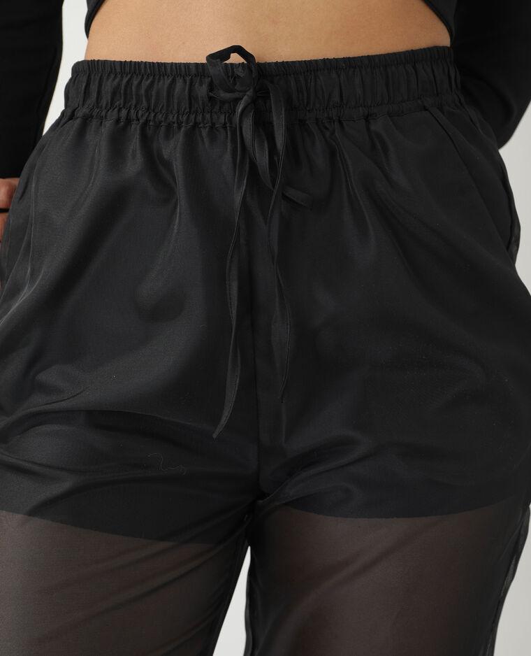Pantalone trasparente nero - Pimkie