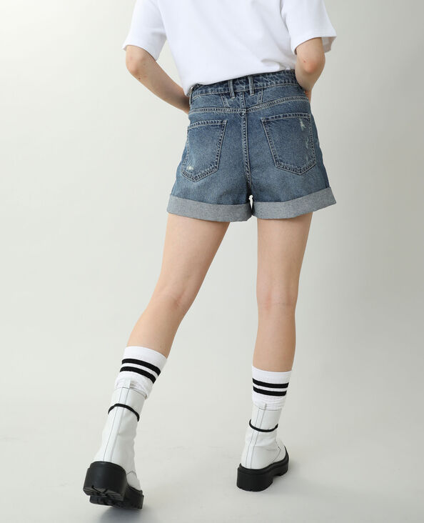 Short di jeans high waist blu denim - Pimkie