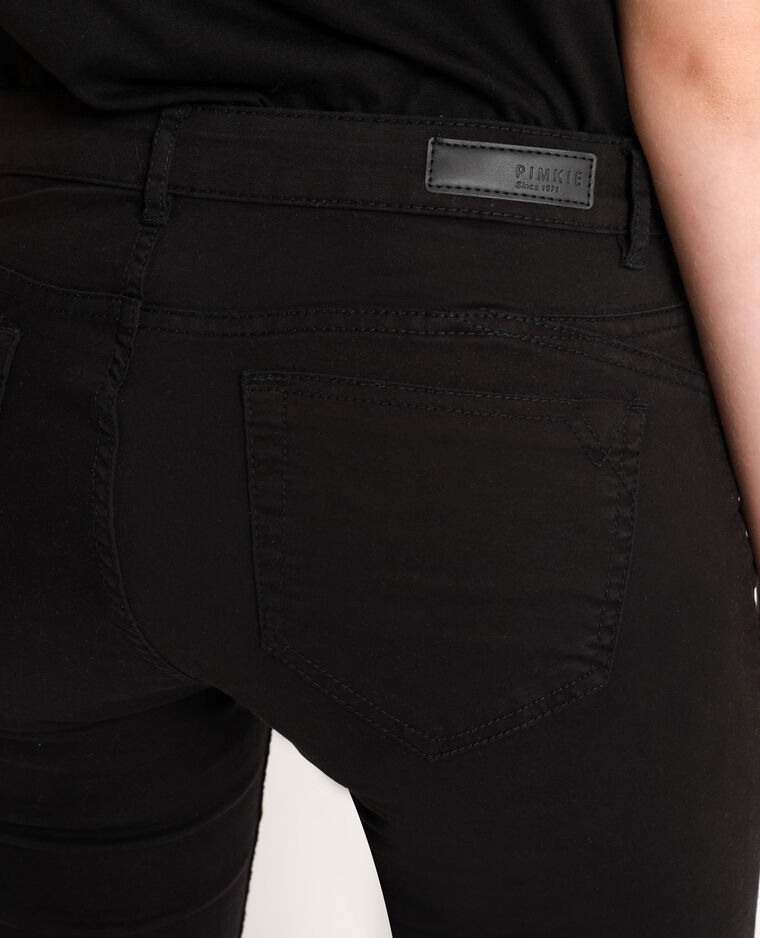 Skinny 7/8 push up mid waist nero - Pimkie