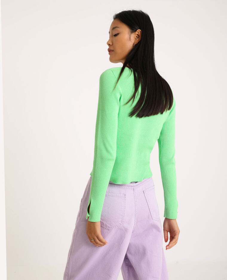 Cardigan aderente verde