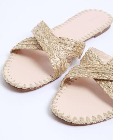 Sandali in rafia beige corda