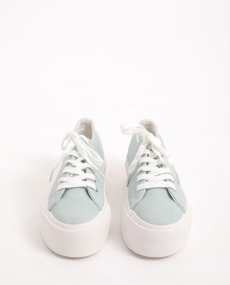 Scarpe da ginnastica con plateau blu cielo