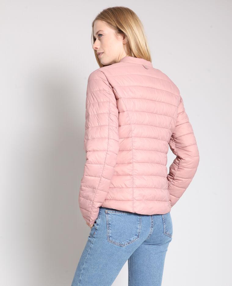 Piumino leggero rosa antico