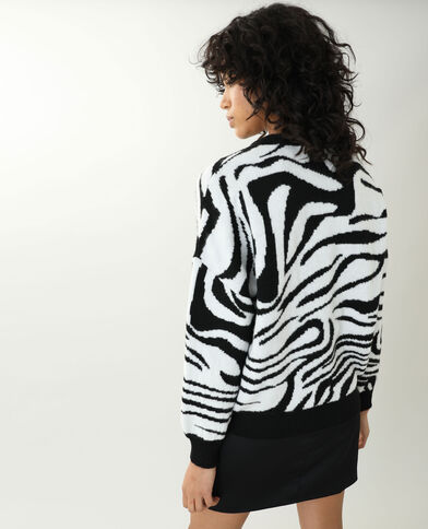 Pull zebrato nero