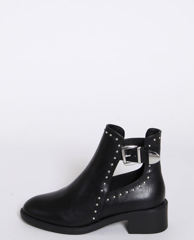 Boots in similpelle nero