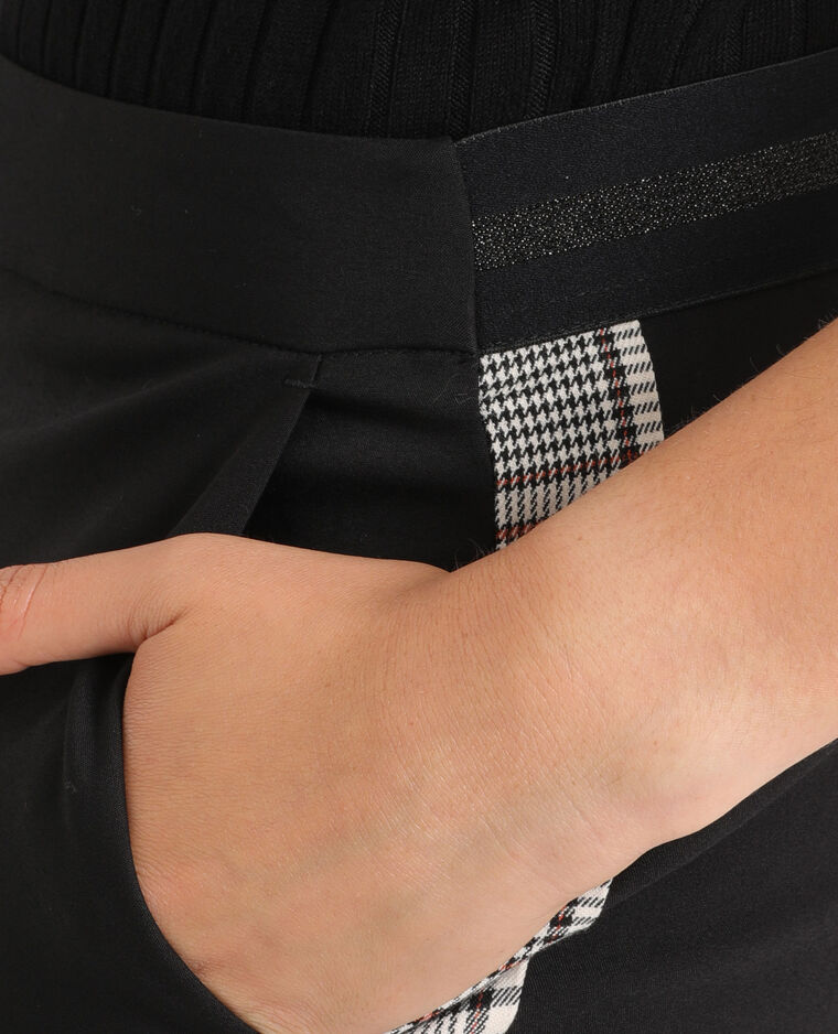 Pantalone city con fasce nero