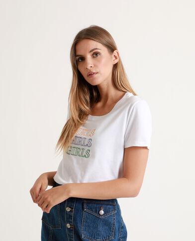 T-shirt Girls bianco sporco