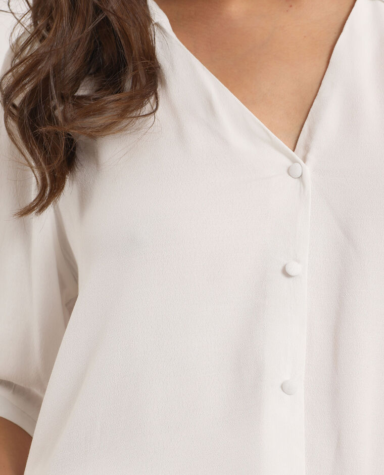 Blusa a maniche corte bianco sporco