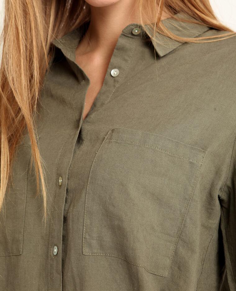 Camicia 55% lino verde