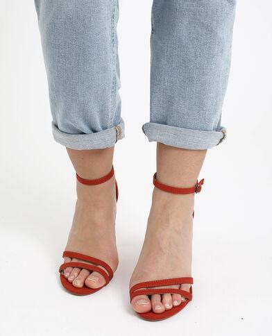 Sandali con tacchi a spillo ruggine