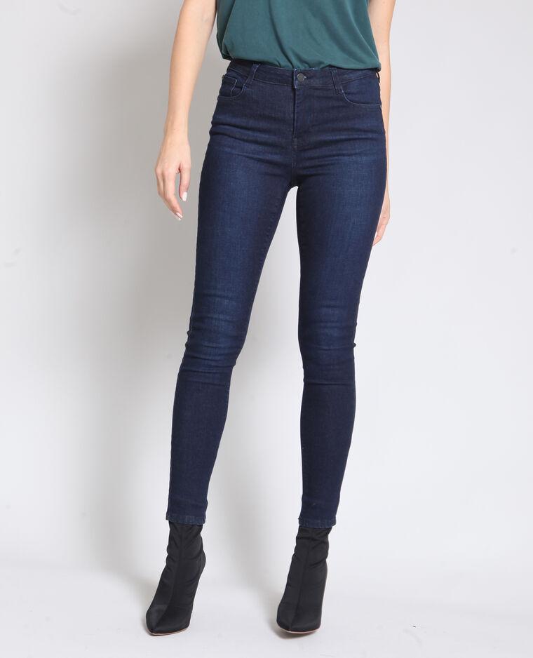 Jeans skinny a vita alta blu scuro