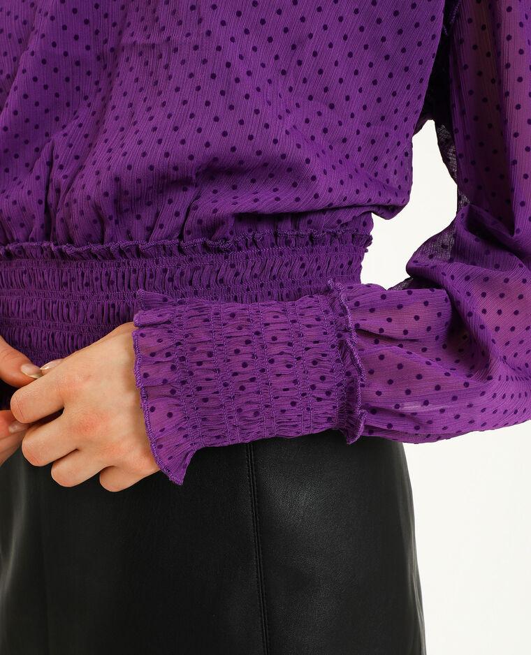 Blusa plumetis viola