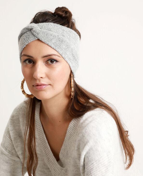 Headband per capelli grigio chiné
