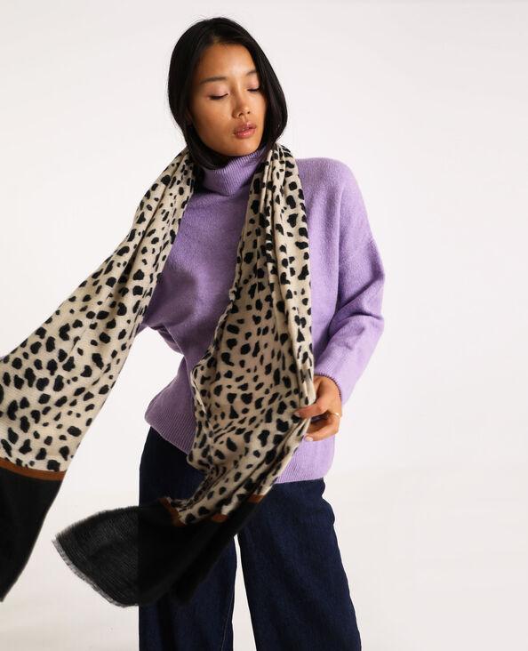 Sciarpa leopardo bruno