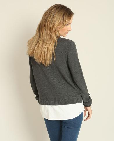 Pull camicia grigio chiné