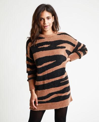 Pull lungo zebrato cammello