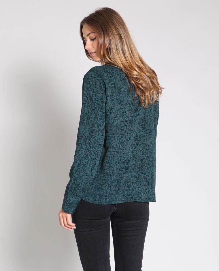 Camicia stampata verde