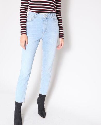 Jeans slim a vita alta blu chiaro