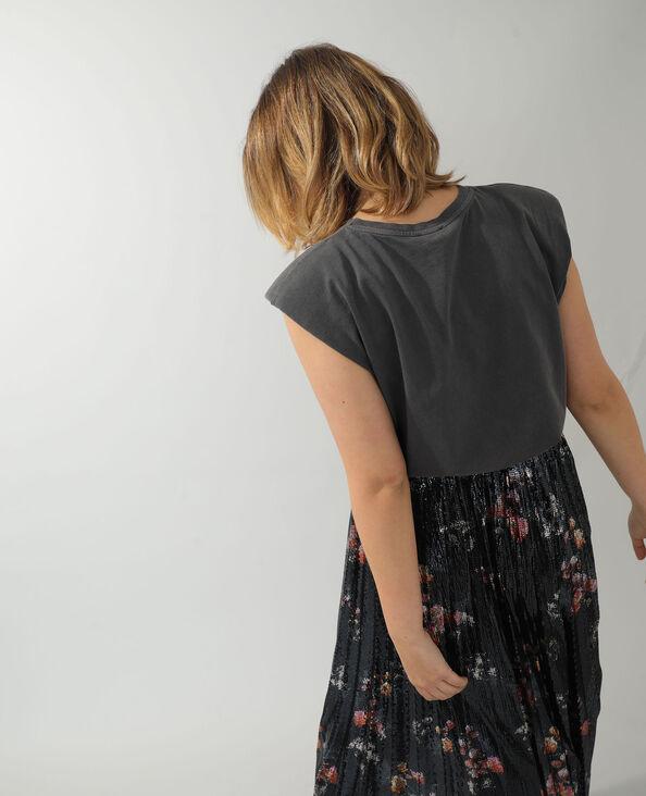 T-shirt con spalline grigio - Pimkie