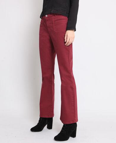 Pantalone flare bordeaux