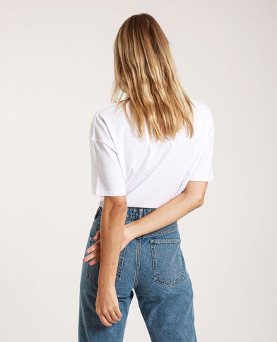 T-shirt con patch bianco