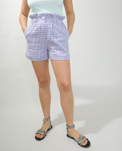 Short city Vichy viola - Pimkie