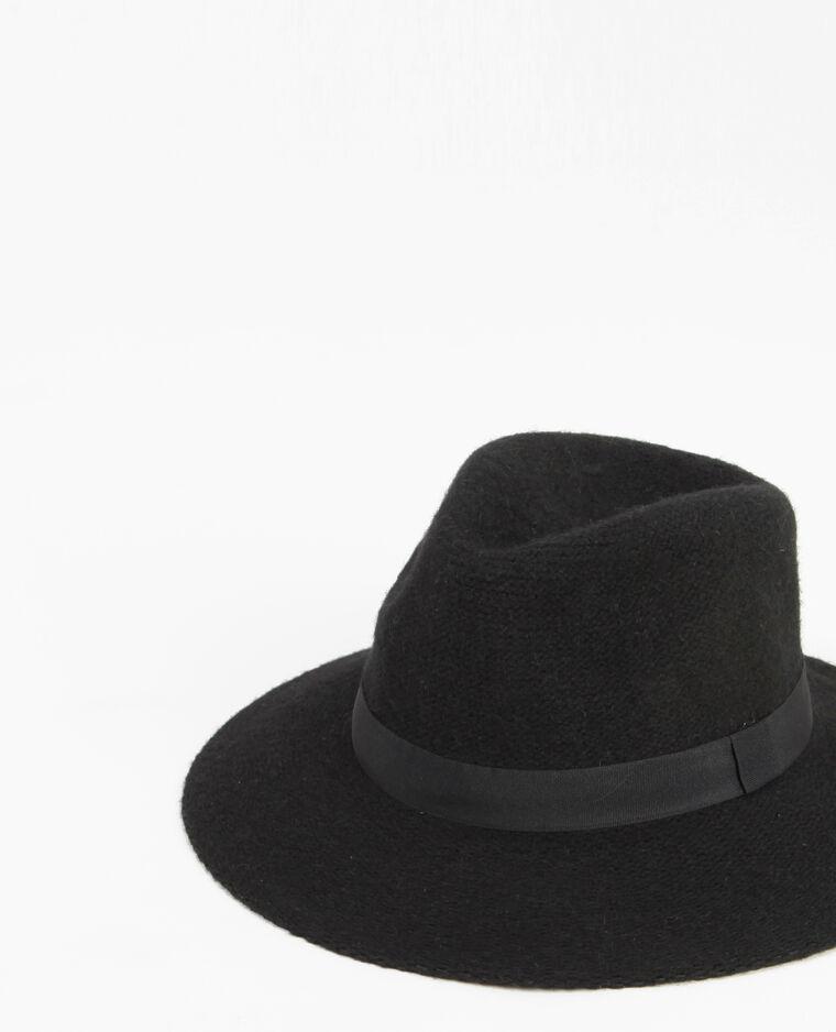 Cappello fedora tricoté nero  Cappello fedora tricoté nero 8d2360afb235
