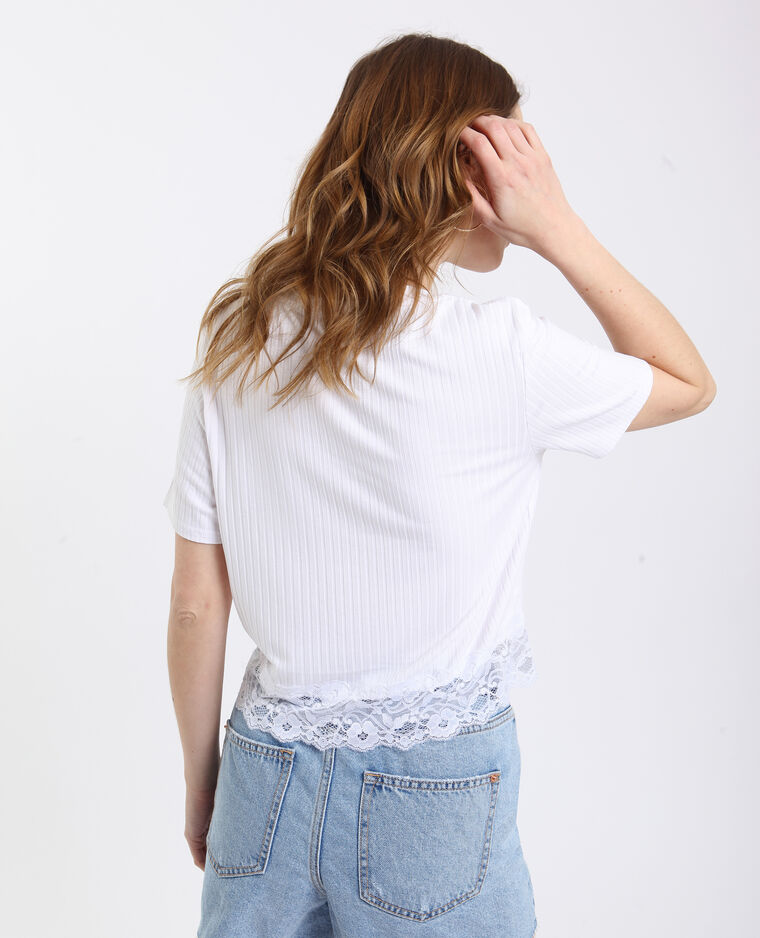 T-shirt pizzo bianco