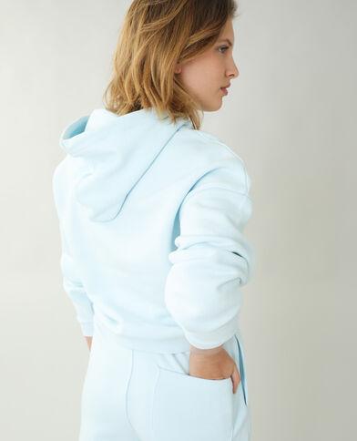 Felpa con cappuccio in tessuto felpato blu denim - Pimkie