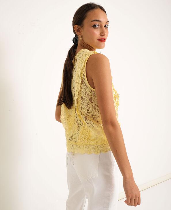 Camicia in pizzo giallo