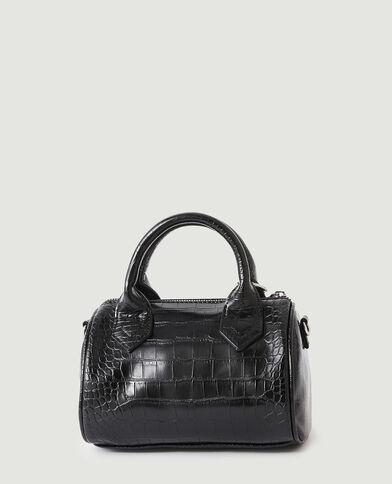 Mini borsa a mano effetto coccodrillo con pochette nero - Pimkie