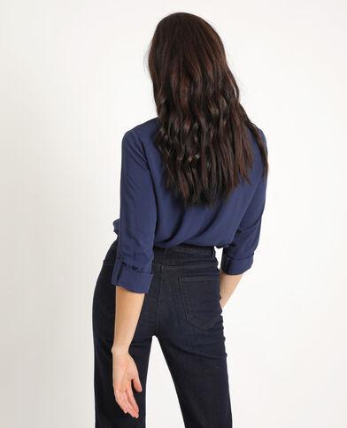 Camicia con le tasche blu marino
