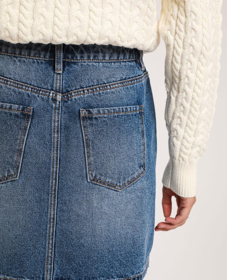 Gonna in jeans blu denim