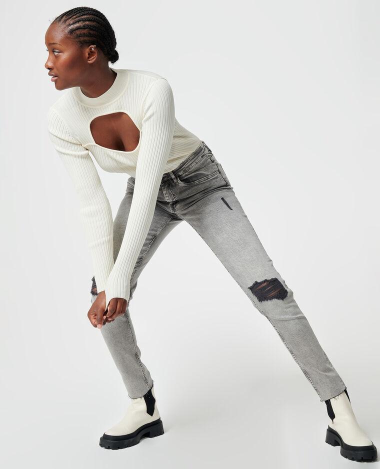 Jeans skinny grigio - Pimkie