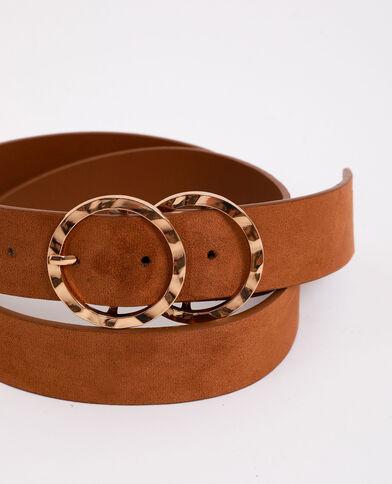 Cintura con doppia fibbia marrone