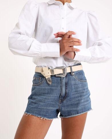Cintura stile western beige