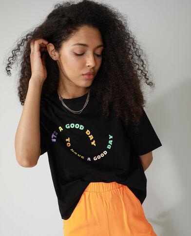 T-shirt oversize con scritta nero - Pimkie