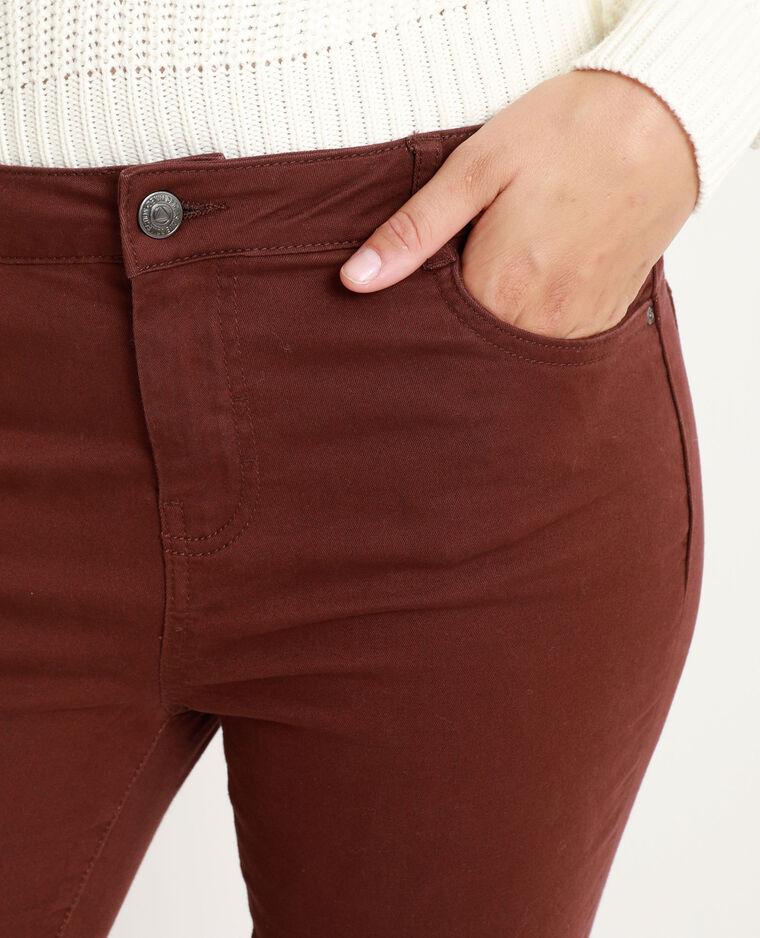 Skinny push up mid waist rosso