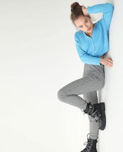 Cardigan in maglia a coste piatte blu - Pimkie