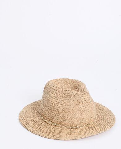 Cappello in paglia beige