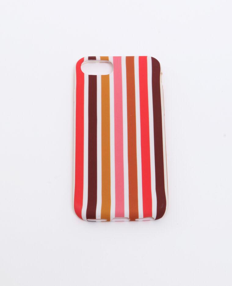 Cover a righe compatibile con iPhone arancio