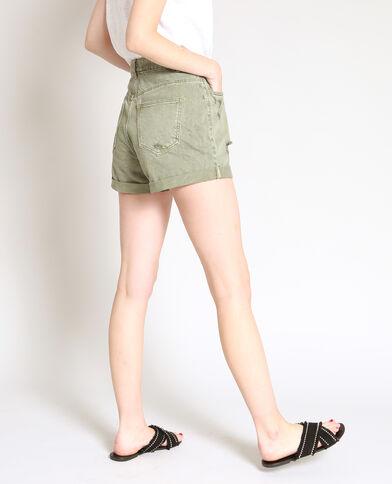 Short in jeans destroy verde