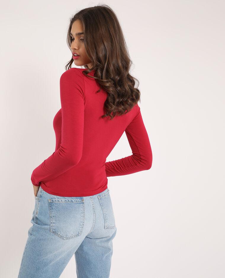 T-shirt arricciata rosso