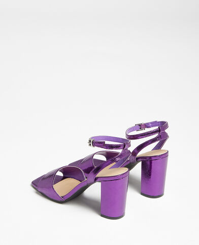 Sandali con cinturino viola