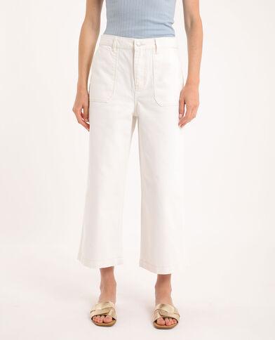 Jeans wide leg écru