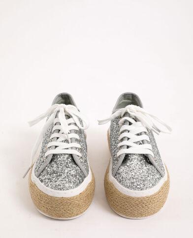 Scarpe da ginnastica con plateau grigio