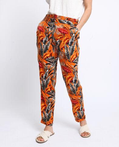 Pantalone stampato arancio