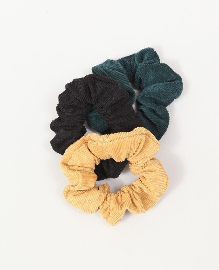 Lotto da 3 elastici per capelli nero