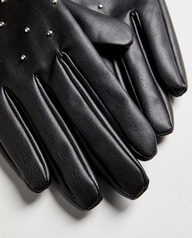 Guanti con borchie nero